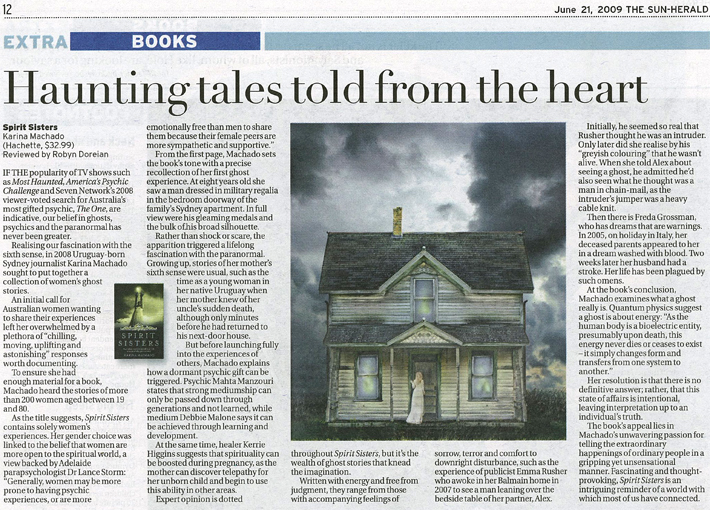 Spirit Sisters review in Sun Herald