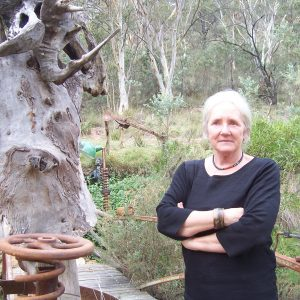 Christine Simpson at her home and cafe/gallery, The Outsider Cafe.