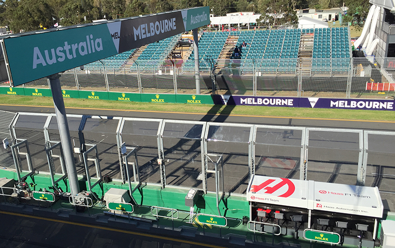 Haas F1 Team at the Australian Grand Prix