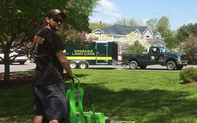 Greener Lawn Care used Mean Green high performance electric mowers to reduce carbon emissions
