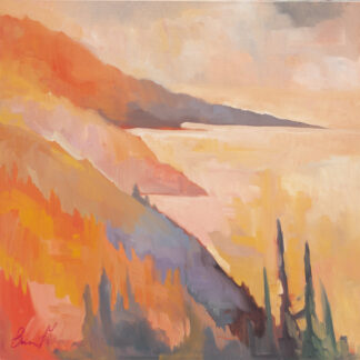 South from Nepenthe, Apricot Light by Erin Lee Gafill