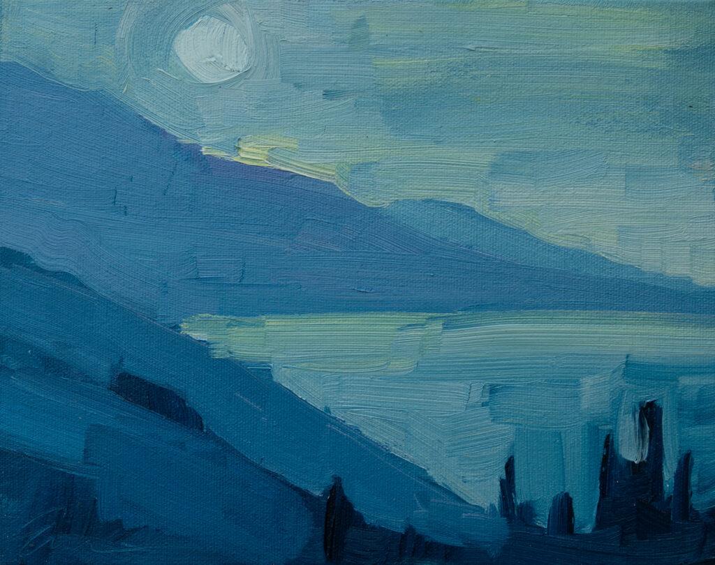Night, Moon, Big Sur by Erin Lee Gafill