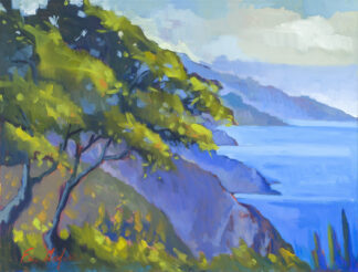 Oak Tree, Nepenthe Morning - Fine Art Print