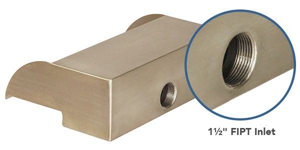 """Back connection of 12"""" Scupper"""