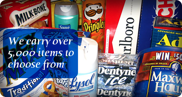 We carry over 5000 items to choose from