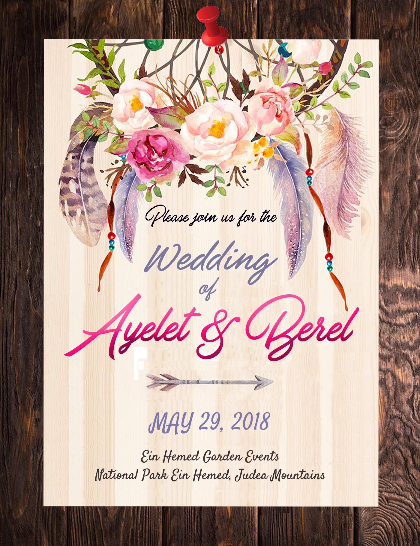 Ayelet and Berl invite good