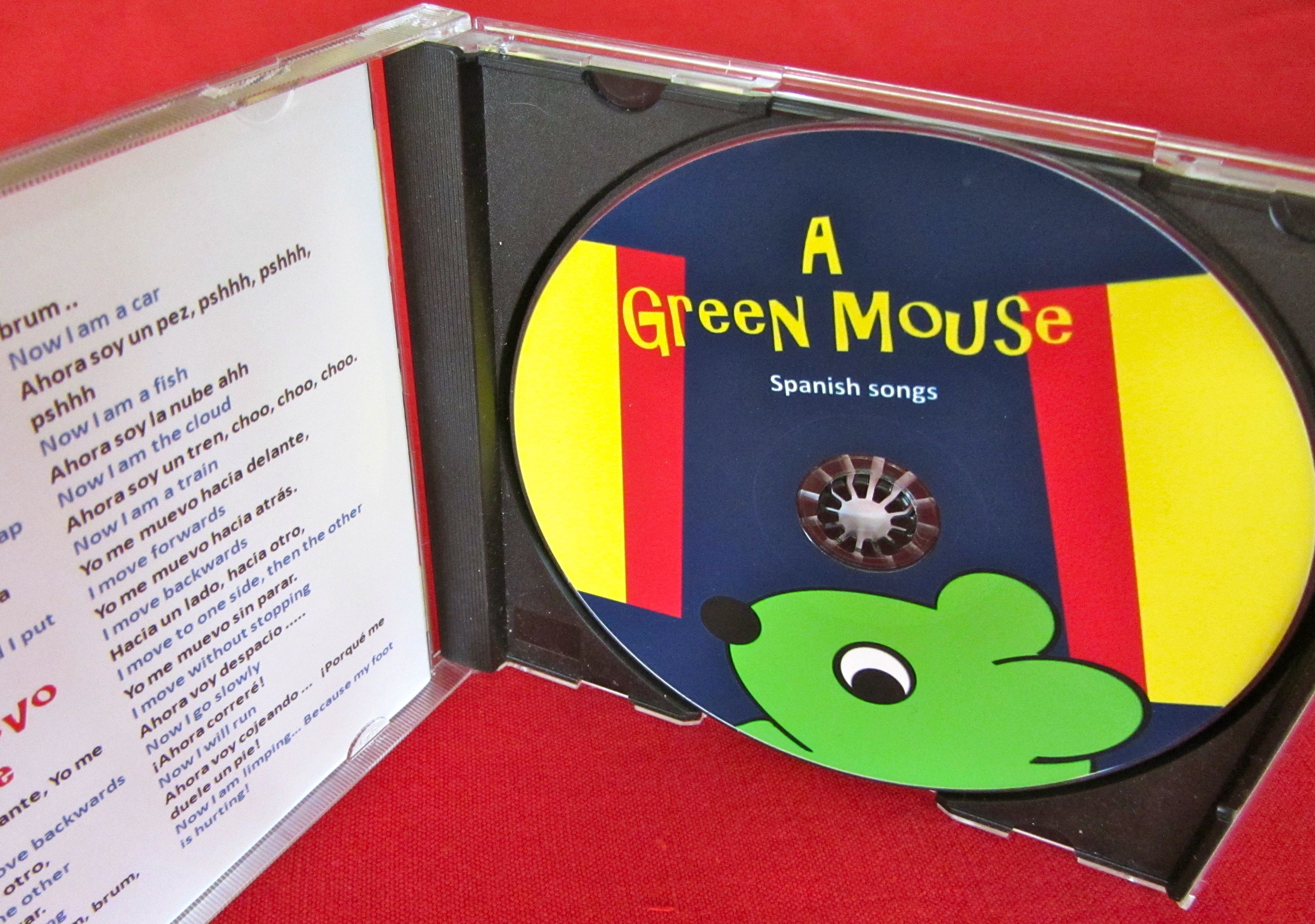 image for A Green Mouse Spanish songs for kids