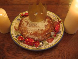 image for a galette des rois - three kings' day cake