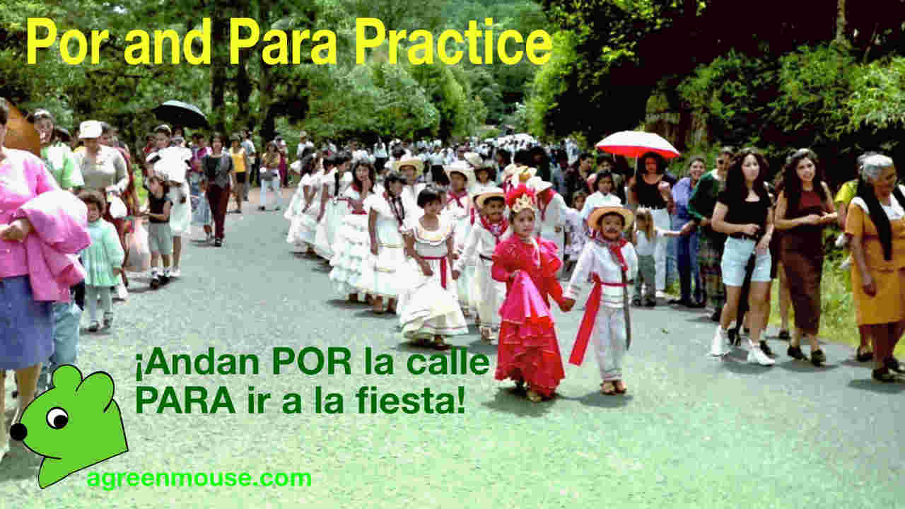 image for Por and Para Practice