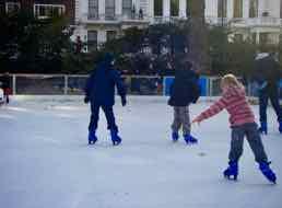 I go ice-skating - Hago patina sobre hilo