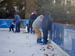 Je fais du patinage sur glace