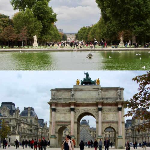 Les Jardins des Tuileries mènent au Musée du Louvre