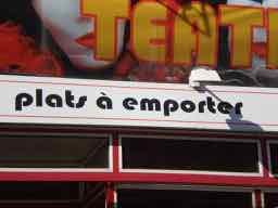 Takeaway in French