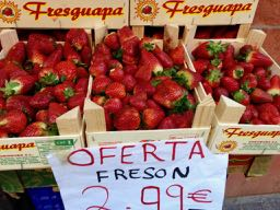 Las fresas españolas son de Huelva en Andalucía