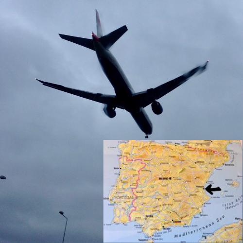 viajo en avión para ir a Valencia