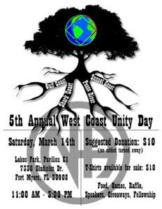 5th Annual West Coast Unity Day @ Lakes Park, Pavilion C1 | Fort Myers | Florida | United States