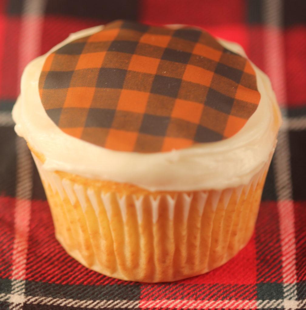 Apple cider cupcake