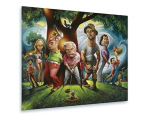 humorous caddyshack art print, funny golf gifts