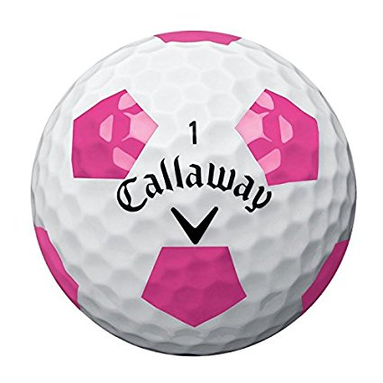 callaway chrome soft pink pattern golf balls
