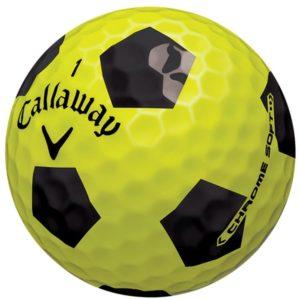 callaway chrome soft yellow pattern golf balls