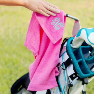custom monogrammed golf towel