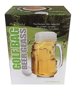 golf bag beer mug