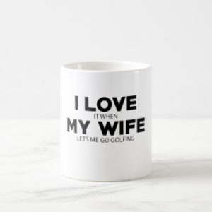 funny golf gift for husband, humorous golf mug