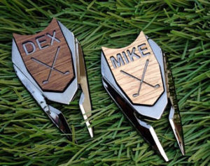 personalized golf divot tool