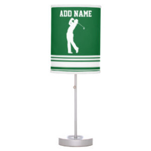 personalized golf table lamp
