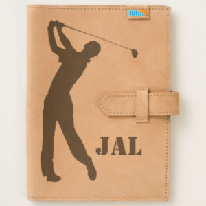 personalized leather golf journal