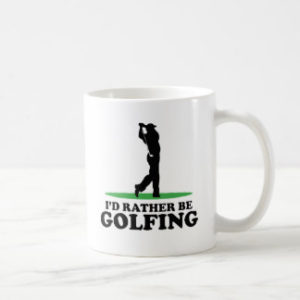id rather be golfing mug, fun golf gift