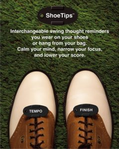 golf swing thoughts shoe tip reminders