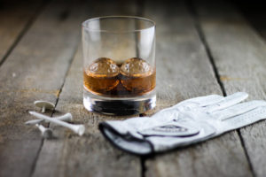whiskey golf ball chillers glass