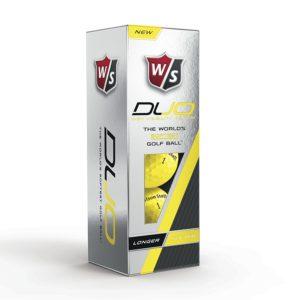 wilson duo tour yellow golf balls