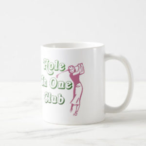 woman golfer hole in one club coffee mug