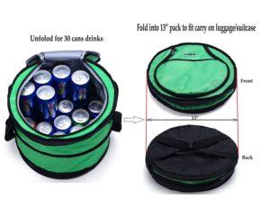 mier 30 can collapsible golf cooler, golf cart cooler bag