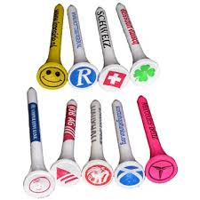 personalized golf tees with logo cup and shank printed, customizable golf tees