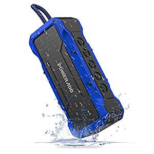 poweradd waterproof bluetooth outdoor speakers, rain proof golf speakers, golf rain gear