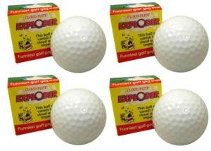 4 pack exploding golf balls, the original golf prank