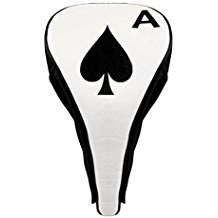 ace of spades golf driver headcover, poker golf headcover