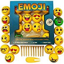 emoji golf balls, funny golf gag gift, gag gift for golfers