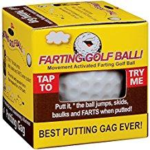 farting golf ball, golf gag gift, funny golf gift