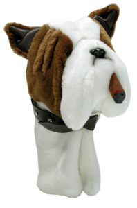 funny bulldog cigar golf driver headcover, funny bulldog golf head cover