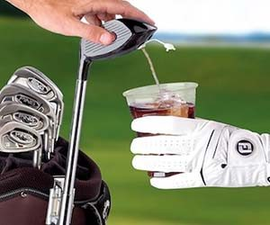 golf club drink dispenser, golf club alcohol, fun golf drinking gift