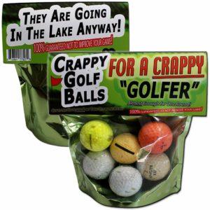 golfer gag gift crappy golf balls, gag gift for golfers