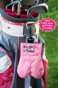 lady golf ball sack, funny golf gag gift for women