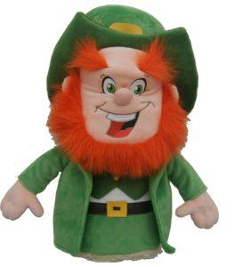 lucky irish leprechaun golf driver headcover, leprechaun golf head cover, luckey golf club headcover