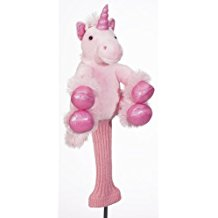 pink unicorn golf head cover, funny pink golf club headcover