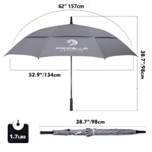 procella 62 windproof golf umbrella
