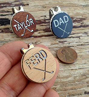 custom wooden golf ball markers, personalized golf ball markers